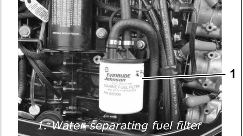 How to Remove Fuel Filter 2011 Evinrude E-TEC 115hp