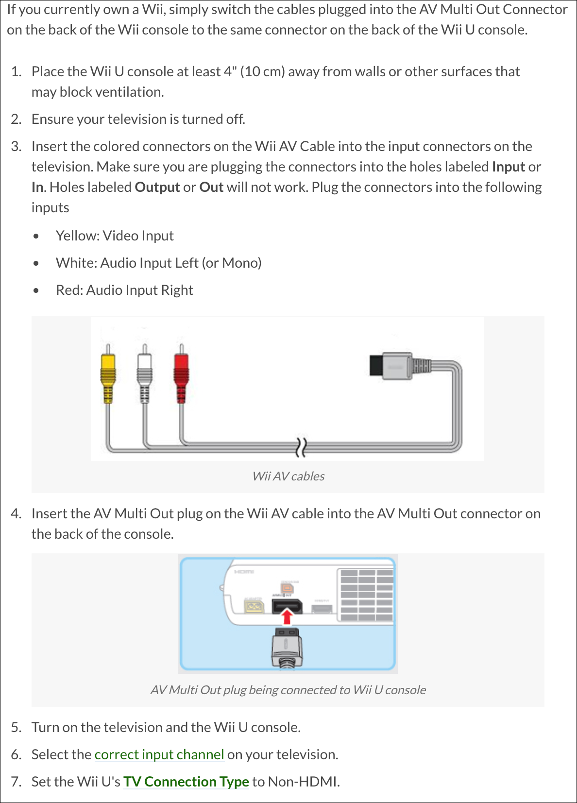 How to Connect Wii AV RCA Cable to TV