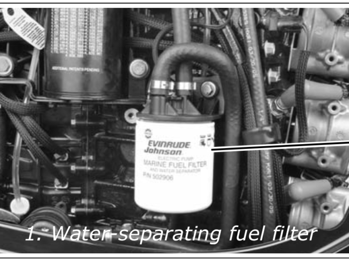 How to Remove Fuel Filter 2011 Evinrude E-TEC 115hp