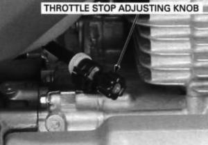 Adjusting Idle TRX400 1996 1997 1998 1999 2000 2001 2002 2003