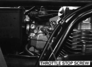 how to calibrate idle Honda TRX 250 2000 1999 1998 197