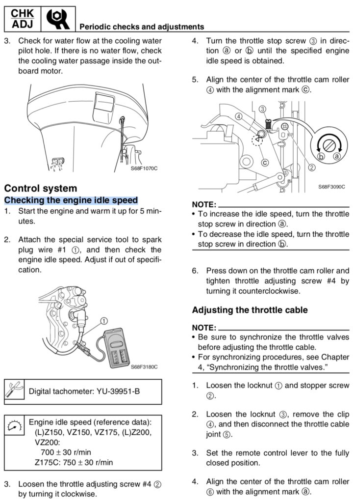 How to Adjust Idle Yamaha 200hp