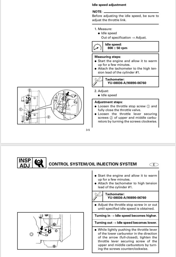 How to Adjust Idle Yamaha 40 hp Outboard